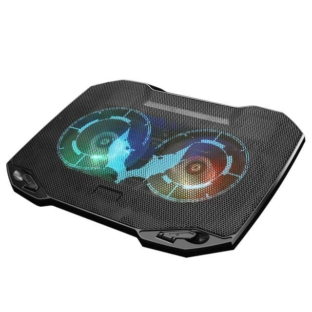 Gaming Laptop Cooler with 2 Quiet Big Fans