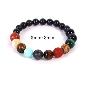 Lovers Eight Planets Natural Stone Bracelet