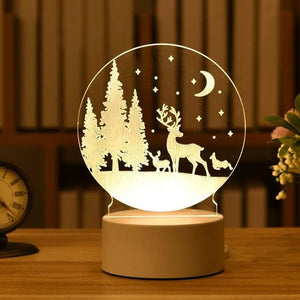 Acrylic 3D Love LED Night Lamp