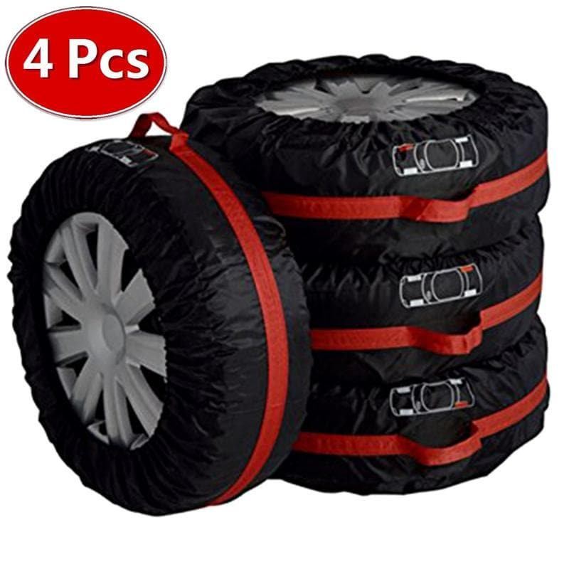 4Pcs Polyester Spare Tire Case Cover