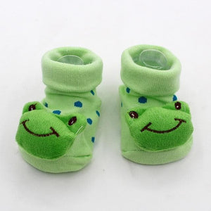 Anti Slip Warm Baby Girl Socks With Rubber Base