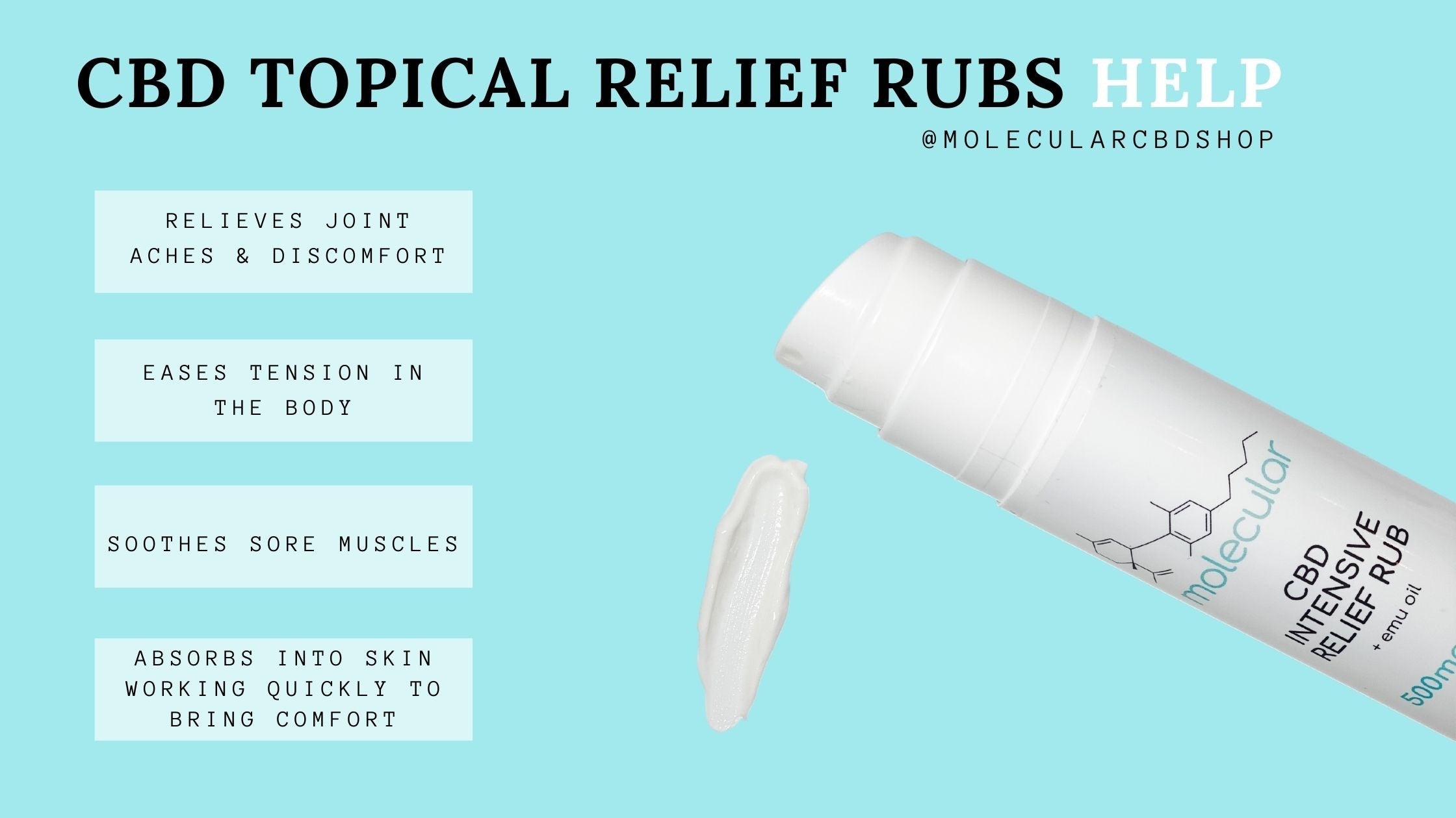 CBD Topical Relief Rub Helps with Pain and Inflammation