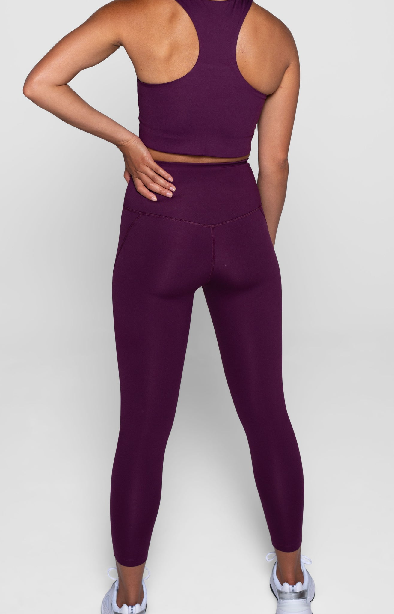 Compressive High-Rise Legging, Plum