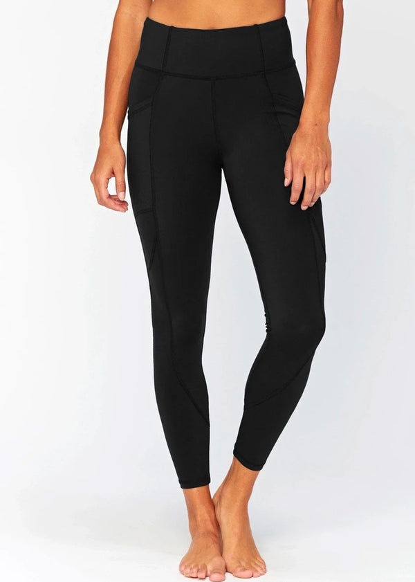 Rita High-Rise Pocket Leggings, Black