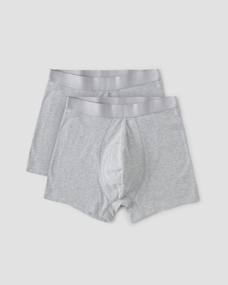 Organic Cotton Boxers 2-pack, Grey
