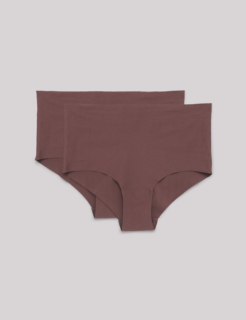 Invisible Cheeky High Rise Briefs 2-pack, Taupe