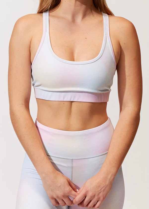 Lotus Nebula Tie Dye Sports Bra
