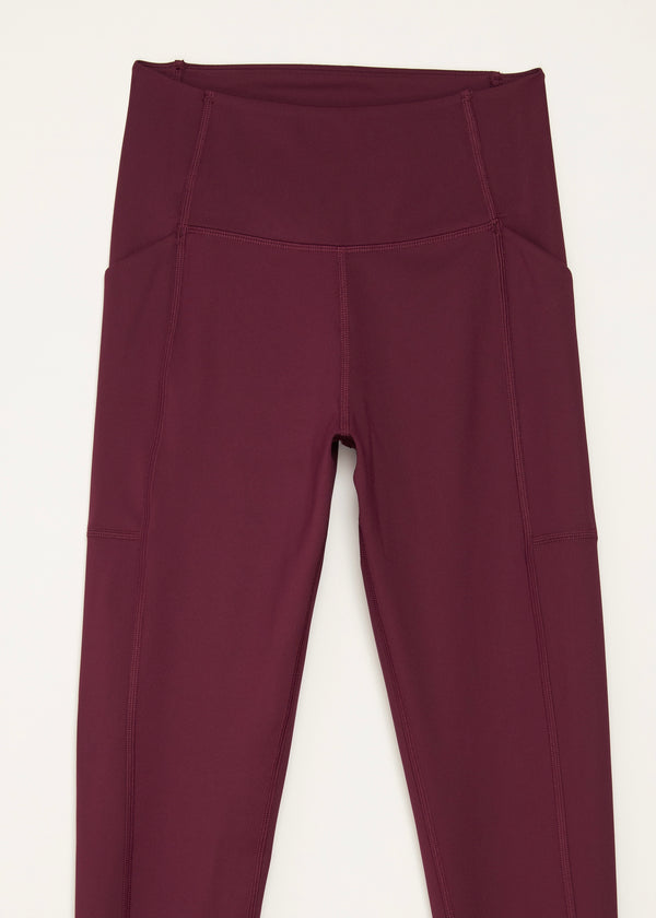 Compressive High-Rise Pocket Legging, Plum