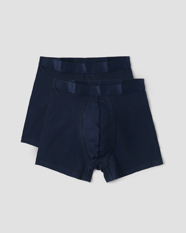 Organic Cotton Boxers 2-pack, Navy