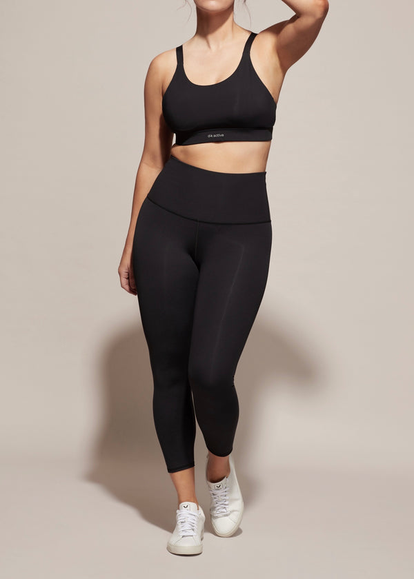 Highrider Cropped Leggings, Black