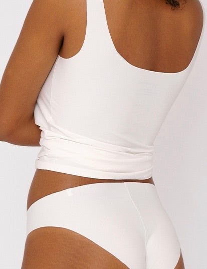 Invisible Cheeky Briefs 2-pack, White