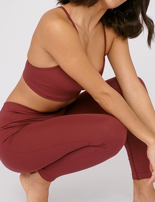 SilverTech Active Leggings, Burgundy