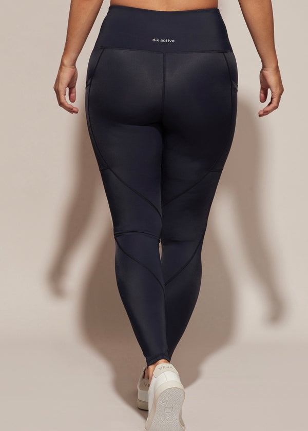 Walk This Way Pocket Leggings, Navy