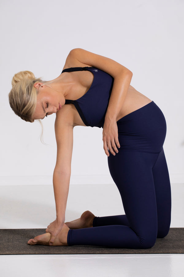 Lotus Maternity Long Leggings, Navy