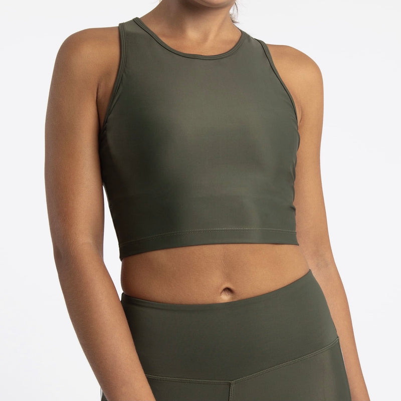 Compression Crop Top, Forest