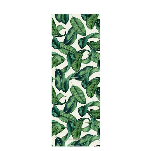 Sugarmat Suede Yoga Mat, Tropical Leaf (3mm)