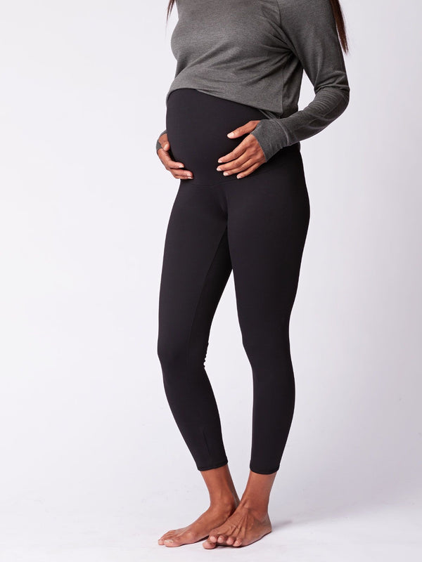 Monica Maternity Ankle Leggings, Black