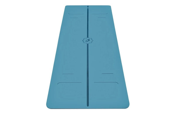 Liforme Yoga Mat with Carry Bag, Evolve Blue (4.2mm)