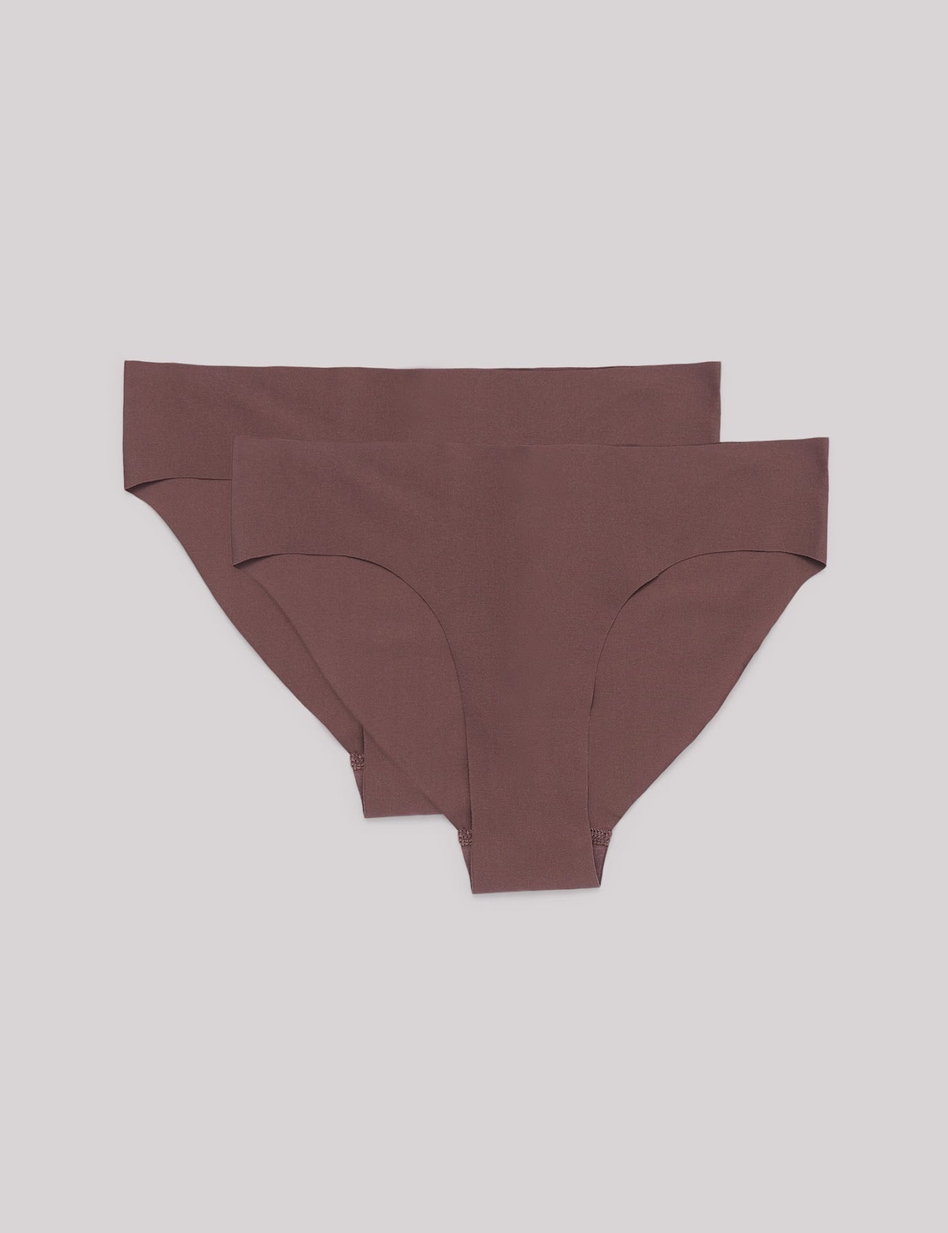 Invisible Cheeky Briefs 2-pack, Taupe