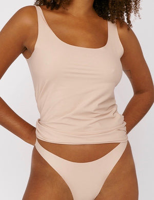 Invisible Cheeky 80's Briefs 2-pack, Nude