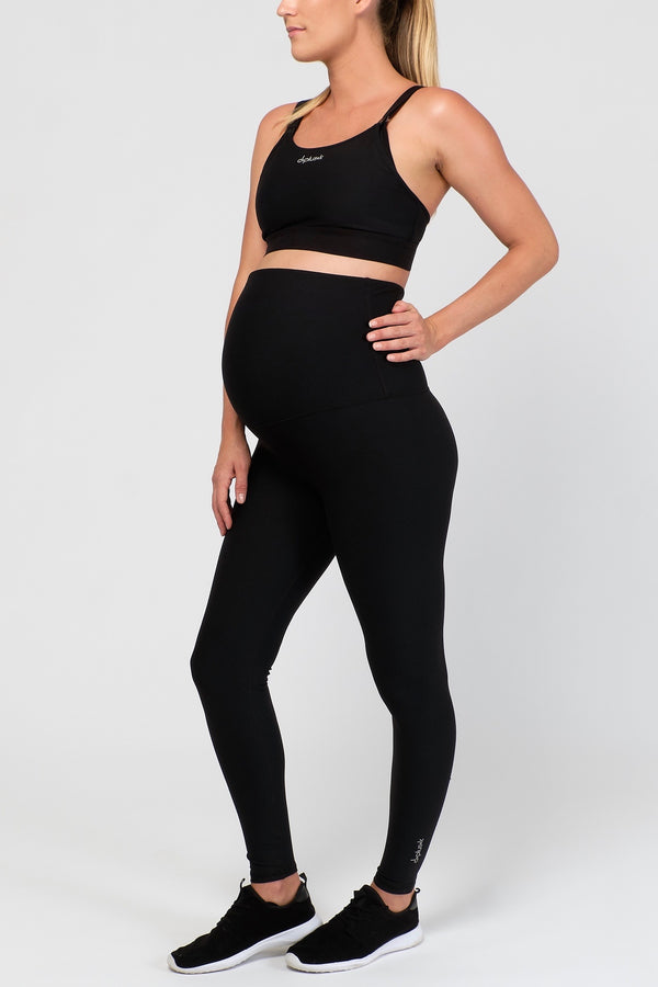 Lotus Maternity Long Leggings, Black