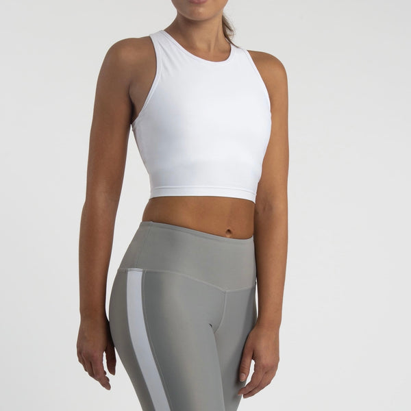 Compression Crop Top, Snow