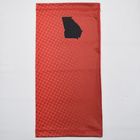 Georgia Ombre Polka Red Neck Gaiter