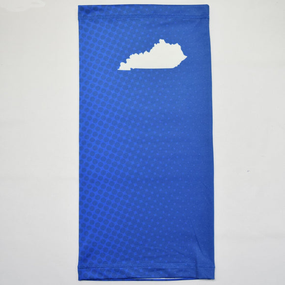 Kentucky Ombre Polka Blue Neck Gaiter
