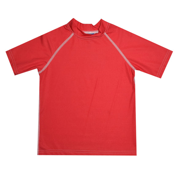 Red Short Sleeve Rash Guard