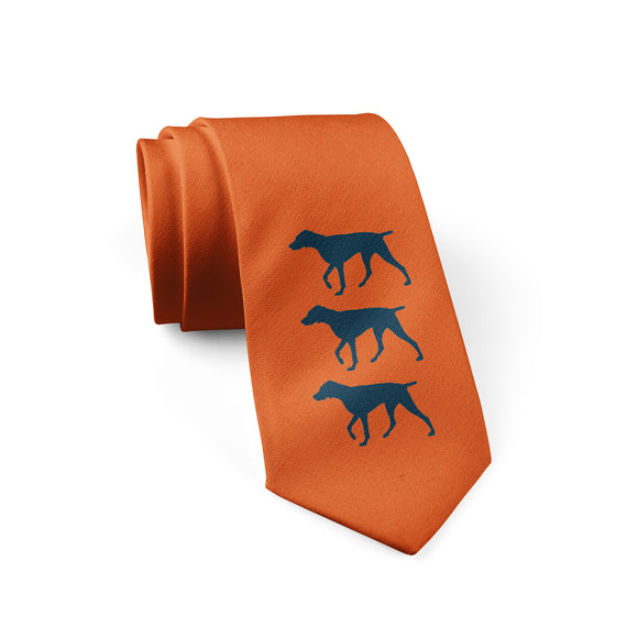 Dogs Orange Tie