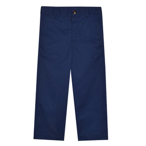 Navy Twill Structured Pants