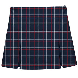 Navy And Red Plaid Skort