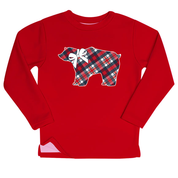 Bear Red Fleece Sweatshirt With Side Vents