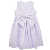 Lavender Floral Boat Neck Sleeveless Dress