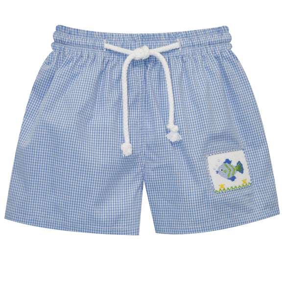 Fish Smocked Swimtrunks