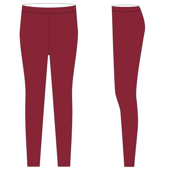 Red Solid Leggings