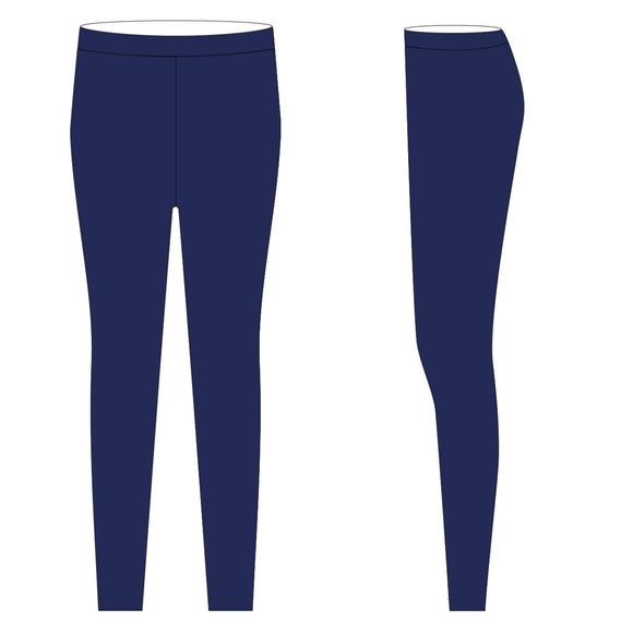 Navy Solid Leggings