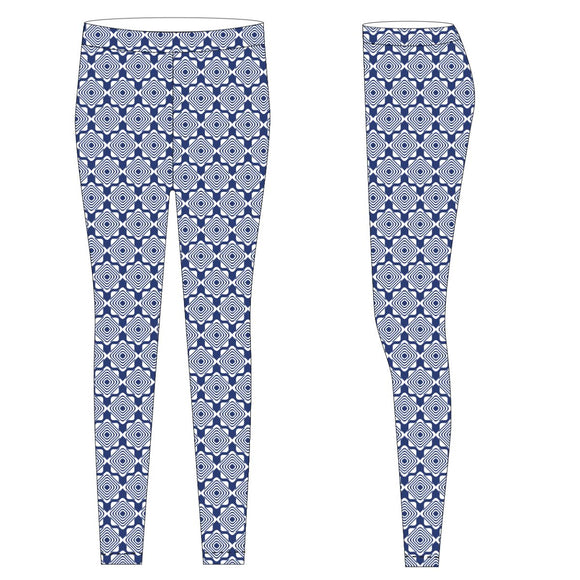 Royal and White Leggings