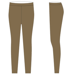 Rust Gold Solid Leggings