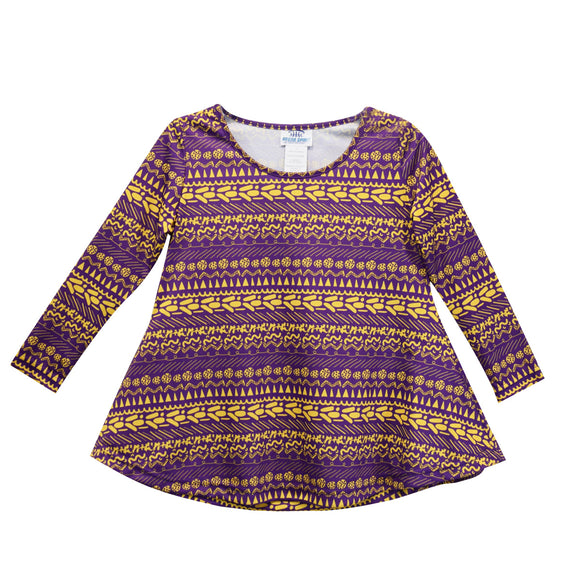 Purple and Gold Yellow Laurie Blouse Long Sleeve