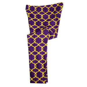 Purple and Gold Yellow Leggings