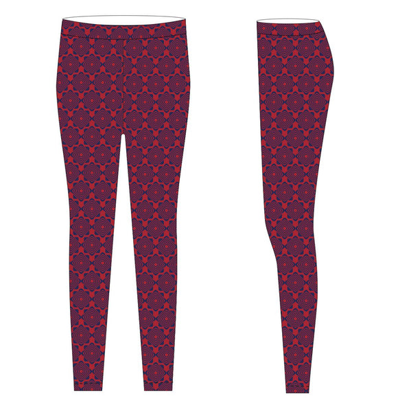 Red and Navy Leggings