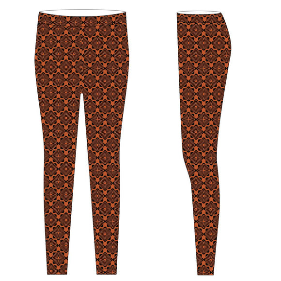 Orange and Black Leggings
