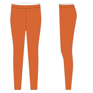Orange Solid Leggings