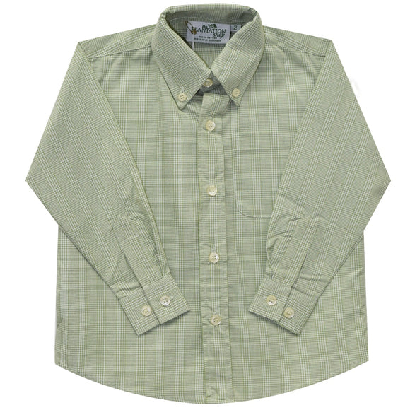 Sage Plaid Button Down Shirt