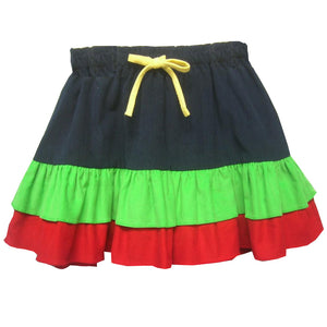 Multicolored Cord Skirt