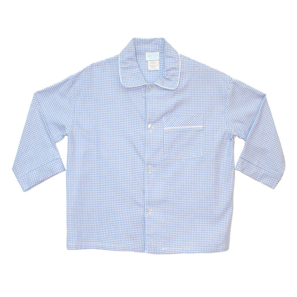 BT Blue Check Boys Top