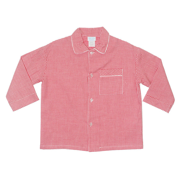 BT Red Check Boys Top