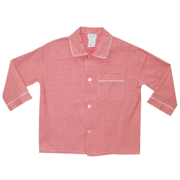 BT Red and White Check Boys Top