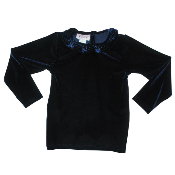 Navy Velaur Shirt